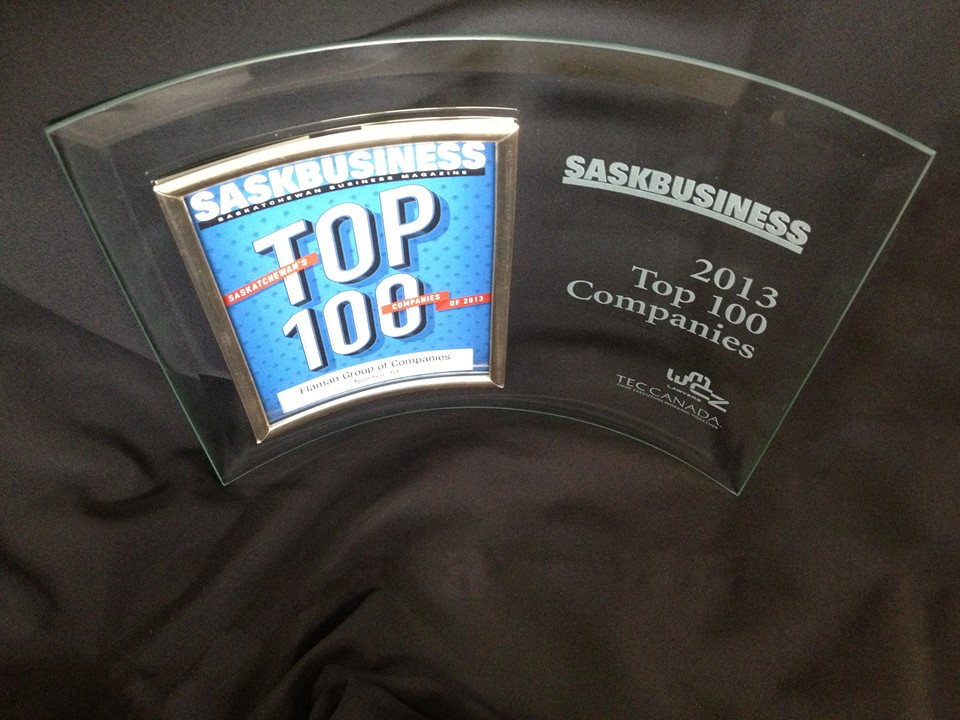 Saskatchewan Top 100 Companies award